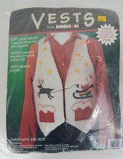 Vintage New Make Your Own Christmas Eve Vest by Dimensions 1995 Made in Usa