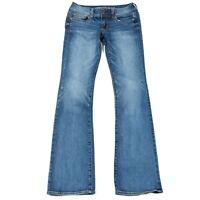 AEO American Eagle Womens Kick Boot Super Stretch Jeans Sz 4 L (28x33) Med Wash