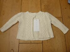 RALPH LAUREN CREAM CABLE KNITTED CARDIGAN IN COTTON 6 MONTHS BNWT
