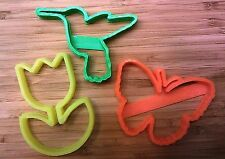 Spring Time Cookie Cutters - Butterfly, Tulip, Hummingbird - Choice of Sizes