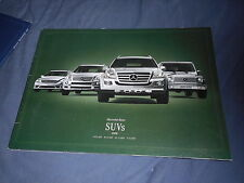 2008 Mercedes Benz SUVs Full Line USA Market Original Color Brochure Prospekt