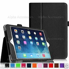 FUNDA DE PIEL SOPORTE PLEGABLE para Apple iPad 4 3 2 , Mini 3 2 1 & Aire 2