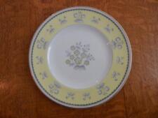 "Wedgwood Yellow Pimpernel bone china 8"" salad plate gold trim W3865"