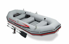 Intex Mariner 4 Inflatable Raft River Lake Dinghy Boat & Oars Set 68376EP New