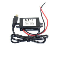 Dual USB Car Power Converter Phone Charging DC-DC Step-down Module 12V to 5V 3A