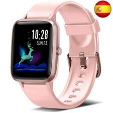 Blackview Smartwatch, Reloj Inteligente con Pulsómetro Mujer Hombre Ni (Rosa)