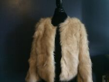 Skies Are Blue Cropped Faux Fur Coat for Women Size M   NEW!!