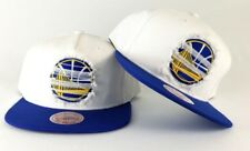 New Mitchell & Ness Golden State Warriors White / Royal Destructed Snapback Hat