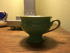 THOMAS BAVARIA FINE CHINA FOOTED Demitasse Cup Green with Gold