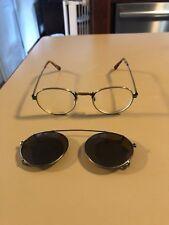 Eyevan Embossed Dd-20 T-Ag 45/21 Eyeglasses w/ Oliver People Sunglasses Snapon!