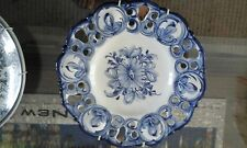 PLATES HANDMADE HAND PAINTED IN PORTUGAL CERAMIC BLUE WHITE