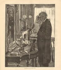 1884 ANTIQUE PRINT-ART-THE STORY OF AN OLD MAN'S LIFE