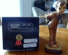 """Anri Sarah Kay Valentine hand carved wood """"Young Man's Fancy"""" 5"""" #655009"""