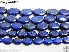 Natural Lapis Lazuli Gemstone Oval Beads 16'' 8mm 10mm 12mm 14mm 16mm 18mm 20mm