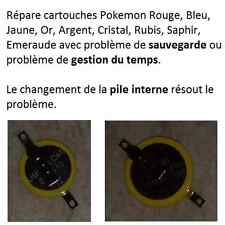 Répare cartouches Pokemon (problème sauvegarde) Rouge/Bleu/Jaune - Game Boy Pile