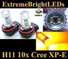 TWO Amber Orange 50W H11 H8 H9 10x Cree XP-E LED Fog Driving DRL Lights