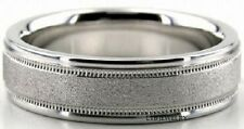 MENS SOLID 14K WHITE GOLD WEDDING BANDS RINGS 6MM