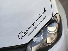 Kia Racing Mind Sticker for Bonnet Ceed Optima Rio Soul Sportage Stinger