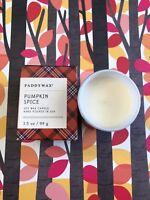 Paddywax Candle Pumpkin Spice Soy Wax Brand New in Box 3.5 oz.Glass Jar Happy