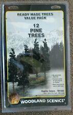 "12 Ready Made Model Railroad PINE TREES Woodland Scenics 6""-8"" # 1582"