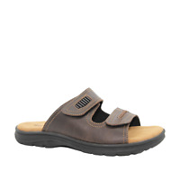 Mens Woodlands Gibson Leather Sandals Slides Comfortable Casual Summer Shoes