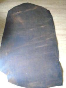 7/8 Crazy Horse VegTan Water Buffalo Strap Collar Tack Belt Leather 10-11.5 sqft