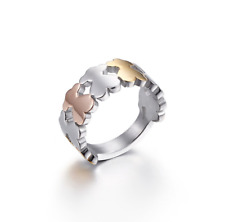 High Quality Stainless steel 3 Colors Cartoon Bear Ring Anti Allergy 6#-9#