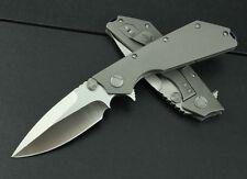 NEW All CNC D2 Blade Full TC4 TITANIUM Handle high-end Folding knife DF98