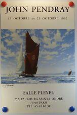voilier John PENDRAY expose Salle Pleyel à Paris AFFICHE ORIGINALE/14PB
