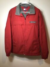 Tommy Hilfiger Jacket Coat Mens Medium Red Fleece lined Older/Vintage