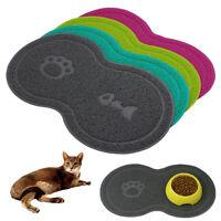Cat Bowl Mat Dog Pet Feeding Water Food Dish Tray Wipe Clean Floor PVC Placemat