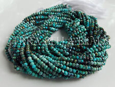 "12.5"" natural SLEEPING BEAUTY TURQUOISE faceted gem stone rondelle beads 2.5mm"