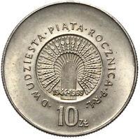 Polen - Gedenkmünze - 10 Zlotych 1969 - 25 JAHRE PRL 1944-1969