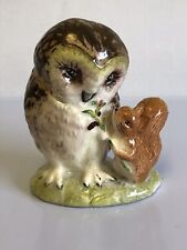 "Beatrix Potter Royal Albert ""Old Mr Brown"" 1989 Lovely Owl & Squirrel Figurine"