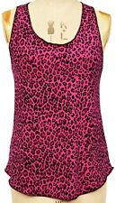 Womens Leopard Print SLOUCHY Tank Top ALTERNATIVE GOTHIC PUNK - Made in the UK!