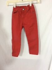 H&M  Girl's  Red Jeans ~ Size 4/5 Years ~ Waist Adjusters