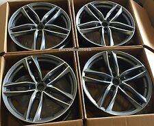 "19"" Wheels For Audi A4 A5 A6 A7 A8 S4 S5 S6 S7 S8 Q3 Q5 19x8.5 +35 Rims Set (4)"