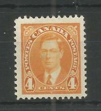 CANADA 1937 GEORGE 6TH 4c YELLOW SG,360 M/MINT LOT 6358A