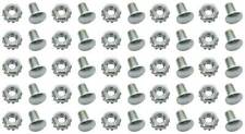 1959-68 Impala, Biscayne Grill Installation Rivet Head Bolt w/Nut Set of 25