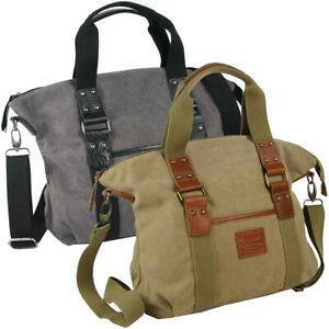 Canvas große Damen Tasche Schultertasche Umhängetasche Shopper Hobo Bag Lederbes