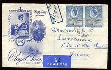 Kenya , Ouganda , Tanganyika - Enveloppe en recommandé de Monbassa en 1954