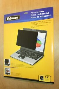 """FELLOWES CRC48005 19.0""""/482mm Privacy Filter for Laptop and Flat Screen Monitors"""