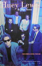 HUEY LEWIS & THE NEWS, FOUR CHORDS & SEVERAL YEARS AGO POSTER (M7)
