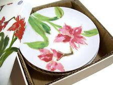 Paula Deen Christmas Holiday Red Amaryllis Flower Salad Dessert Plates Set of 4 & Paula Deen Holiday Dinnerware u0026 Serving Dishes | eBay
