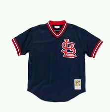 NEW MITCHELL & NESS ST LOUIS CARDINAL SMITH BATTING PRACTICE MESH JERSEY MLB