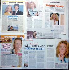 BRIGITTE FOSSEY => lote 16 cortes de prensa