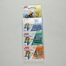 3 Pack JVC MDV60KL3P Digital 60ME Mini DV Tape Digital Video Cassette New Sealed