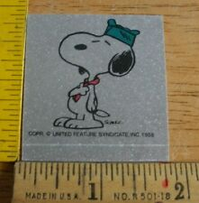Snoopy in boy scout outfit sticker Wonder Bread Peanuts 1970s VINTAGE decal