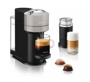 Nespresso Vertuo Next Espresso Roast Coffee Bundle By Breville, Light Gray
