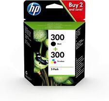 HP 300 Pack de 2 Cartouches Encre Originale Garantie 2 ans  Noir Trois Couleurs